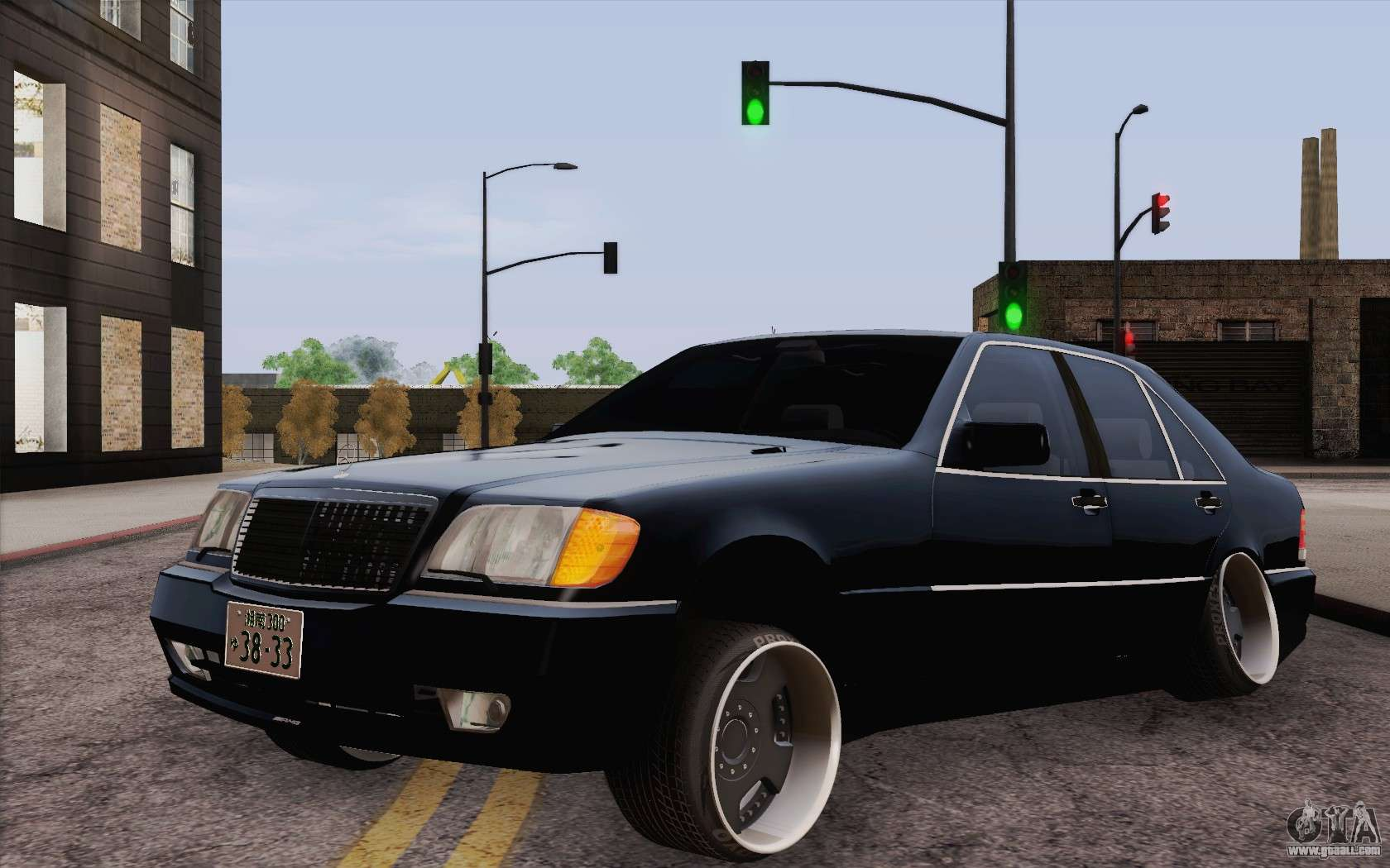 Mercedes benz s500 w140 for gta san andreas for Mercedes benz gta