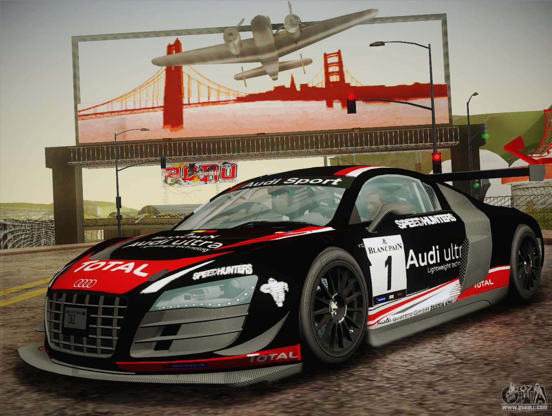 Audi R8 Lms Ultra W Racing Team Vinyls For Gta San Andreas