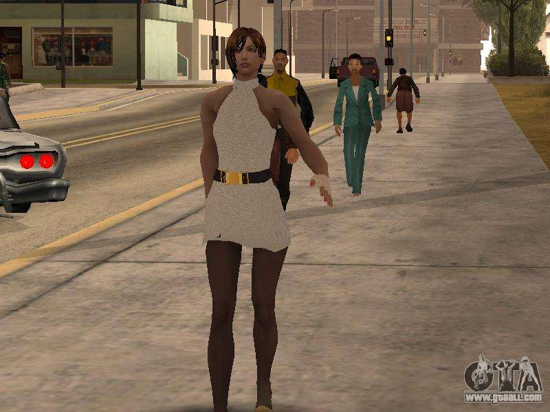 Girl In White Dress For Gta San Andreas-3709