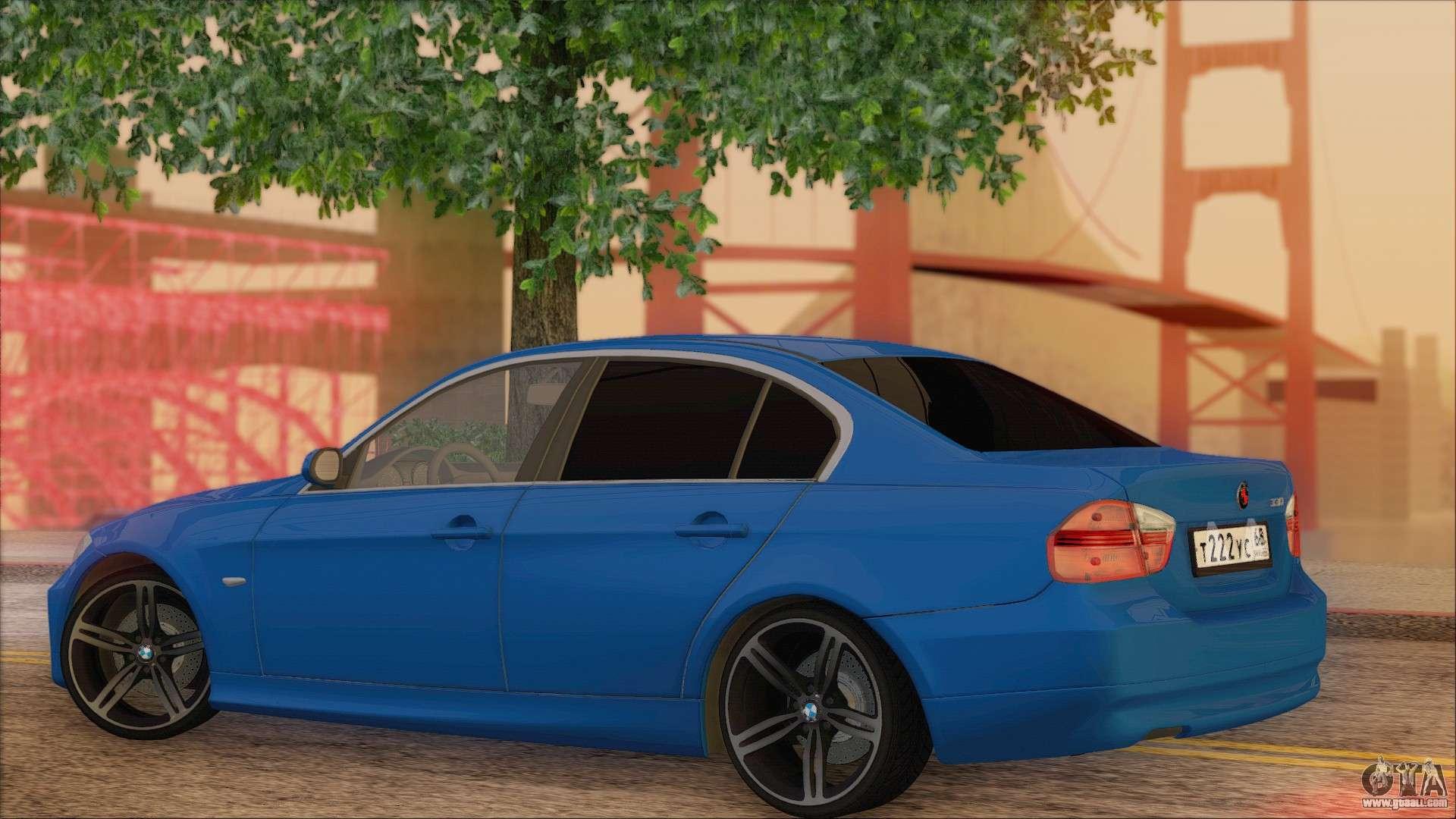BMW I For GTA San Andreas - 2014 bmw 330i
