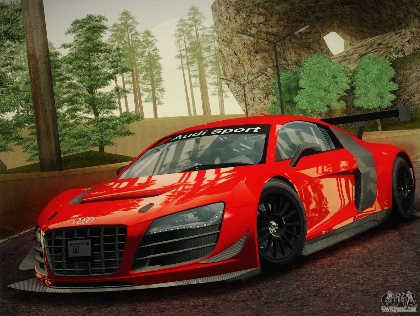 Audi r8 lms ultra w racing team vinyls for gta san andreas left view