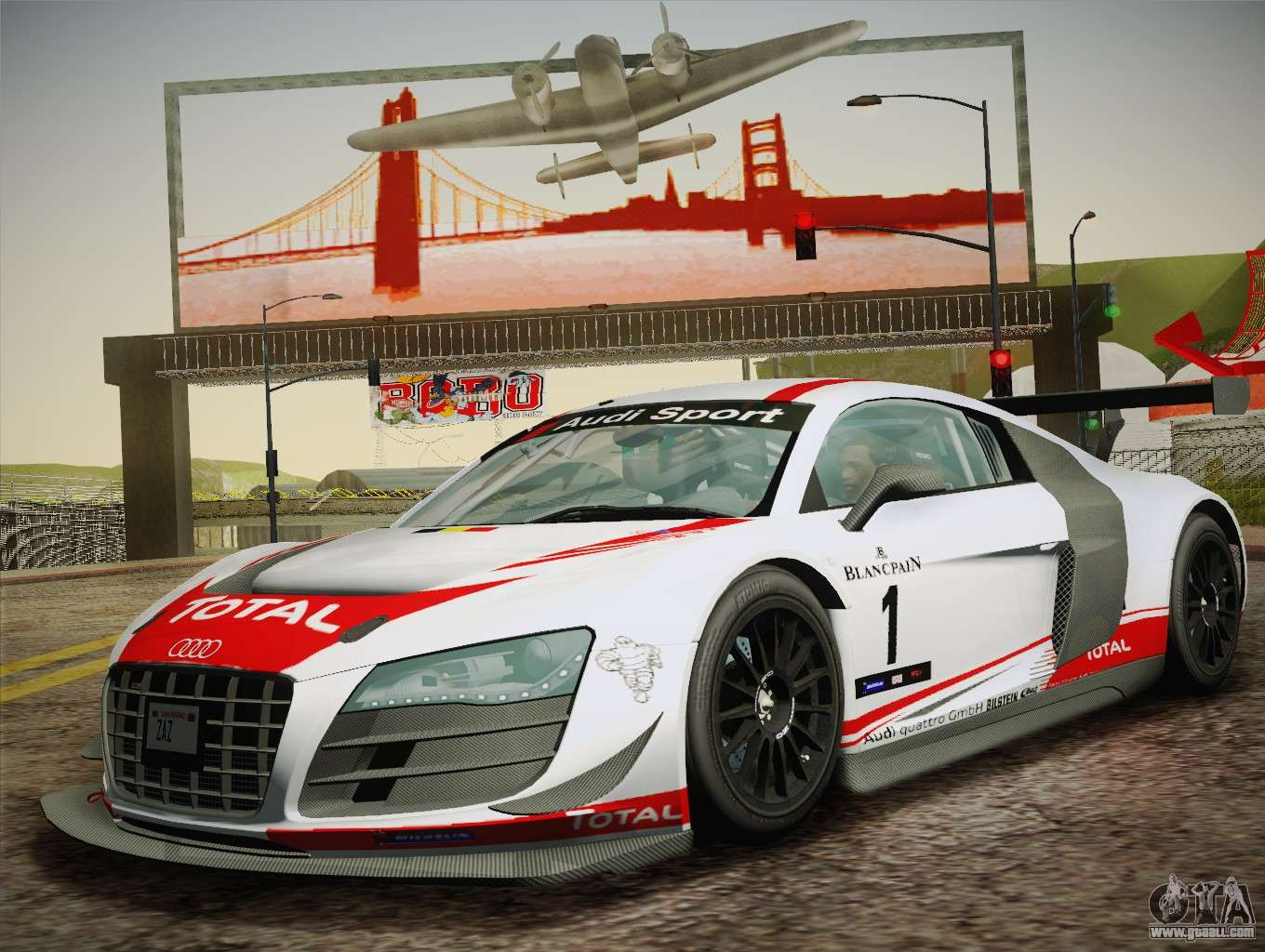 audi r8 lms ultra w racing team vinyls for gta san andreas. Black Bedroom Furniture Sets. Home Design Ideas