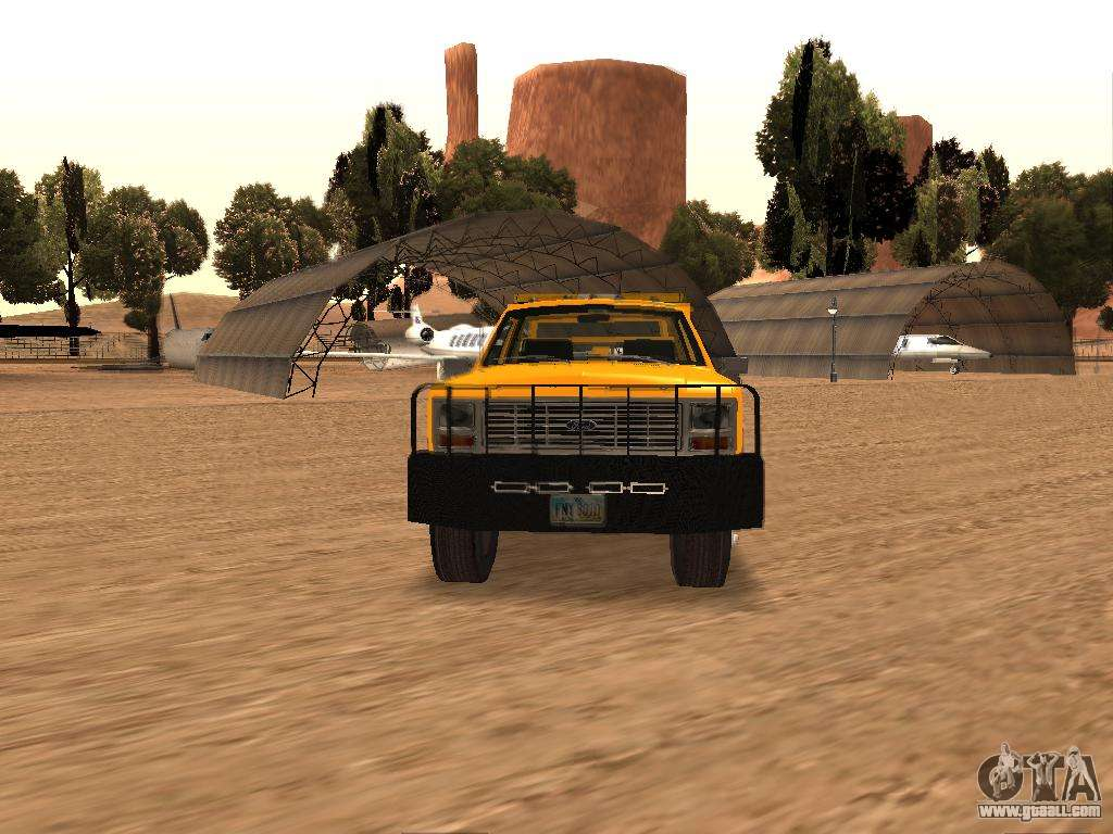 Ford f 250 for gta san andreas back view