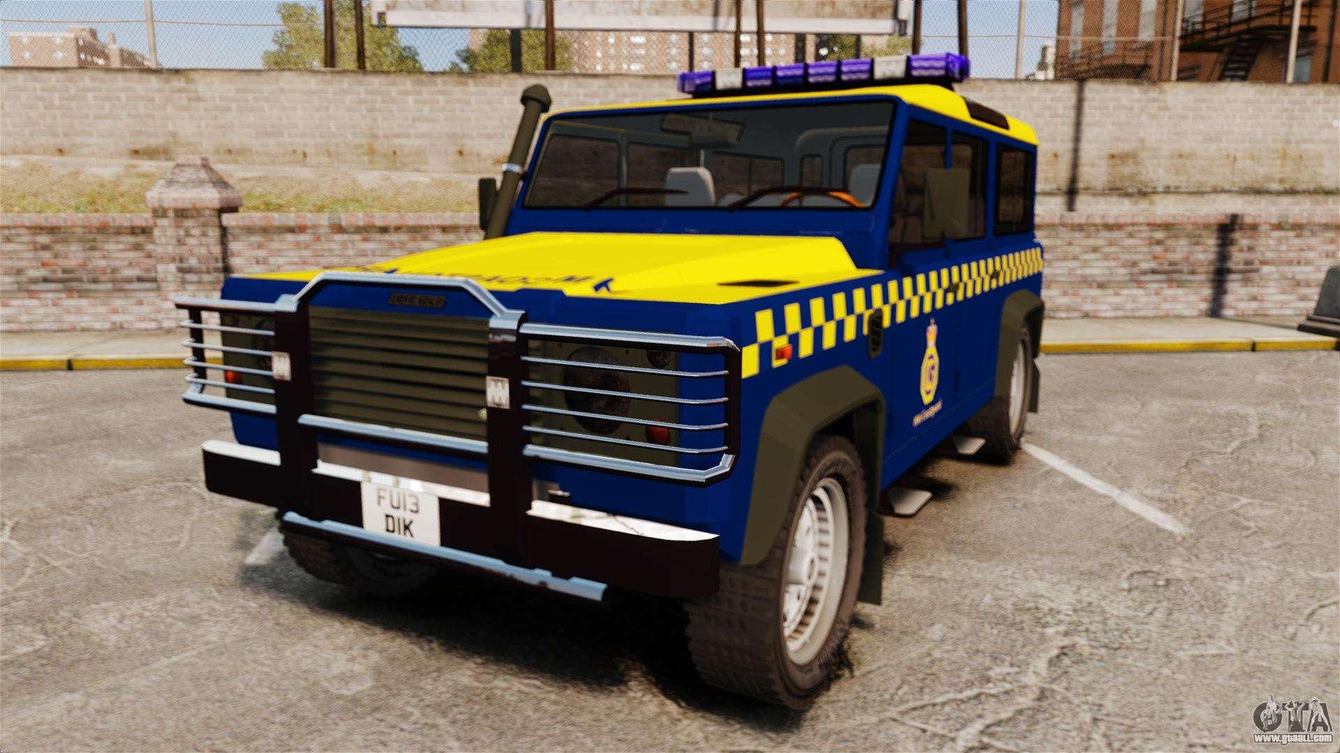 Land Rover Defender Mule >> Land Rover Defender HM Coastguard [ELS] for GTA 4