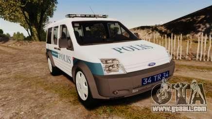 Ford Transit Connect Turkish Police [ELS] v2.0 for GTA 4
