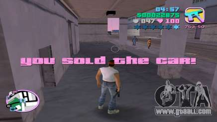 Illegal sale of automobiles for GTA Vice City