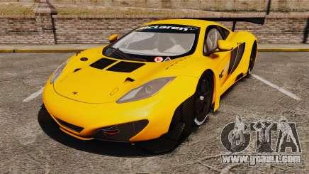 McLaren MP4-12C GT3 (Updated) for GTA 4