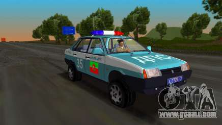 VAZ 21099 Militia for GTA Vice City