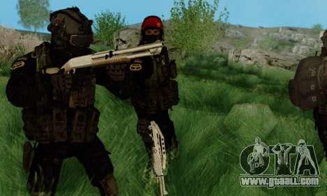 Kopassus Skin 3 for GTA San Andreas second screenshot