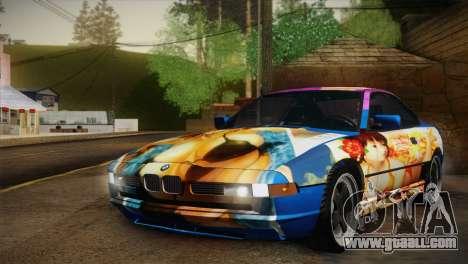 BMW M8 Custom for GTA San Andreas inner view