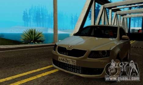 Skoda Octavia A7 for GTA San Andreas inner view