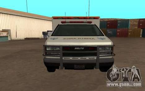 GTA 5 Ambulance for GTA San Andreas back left view