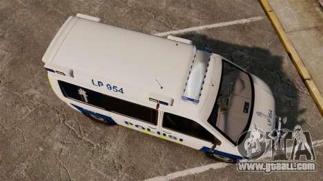 Volkswagen Transporter T5 TDI POLIISI [ELS] for GTA 4 right view