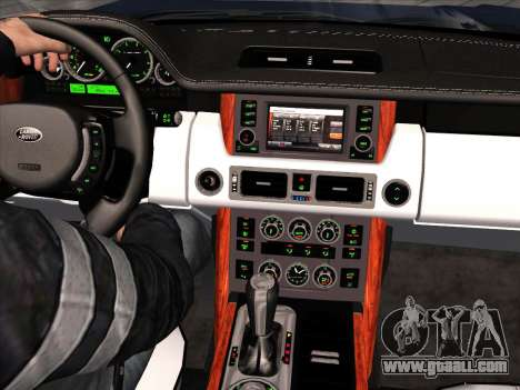 Land Rover Supercharged Stock 2010 V2.0 for GTA San Andreas inner view