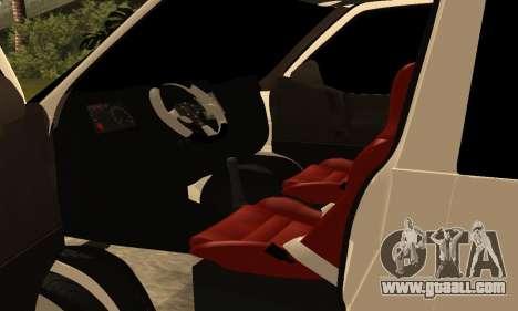 Volkswagen T4 Transporter for GTA San Andreas inner view