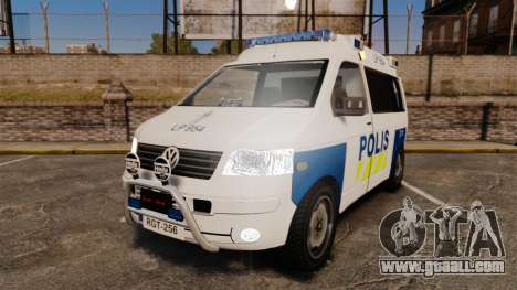 Volkswagen Transporter T5 TDI POLIISI [ELS] for GTA 4