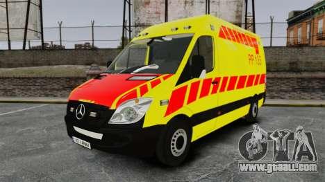 Mercedes-Benz Sprinter Finnish Ambulance [ELS] for GTA 4