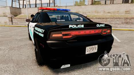 Dodge Charger 2011 Liberty Clinic Police [ELS] for GTA 4 back left view