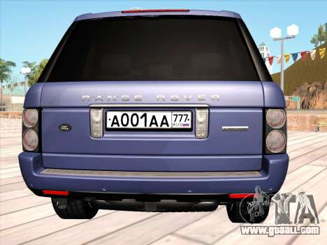 Land Rover Supercharged Stock 2010 V2.0 for GTA San Andreas back view
