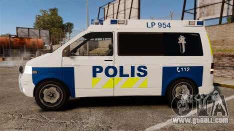 Volkswagen Transporter T5 TDI POLIISI [ELS] for GTA 4 left view