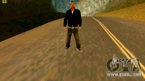 The new texture Claude for GTA San Andreas