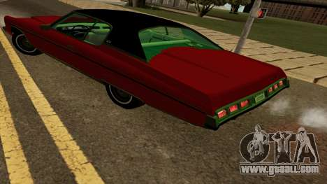 Chevrolet Caprice Coupe 1973 for GTA San Andreas back left view