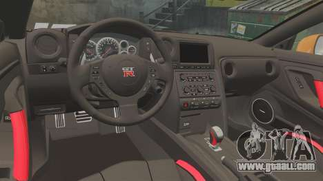 Nissan GT-R 2012 Black Edition NFS Underground for GTA 4 inner view