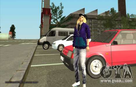 Skin Avril Lavigne for GTA San Andreas second screenshot