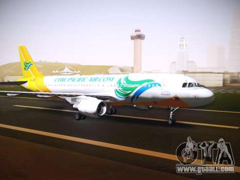 Airbus A320 Cebu Pacific Air for GTA San Andreas left view