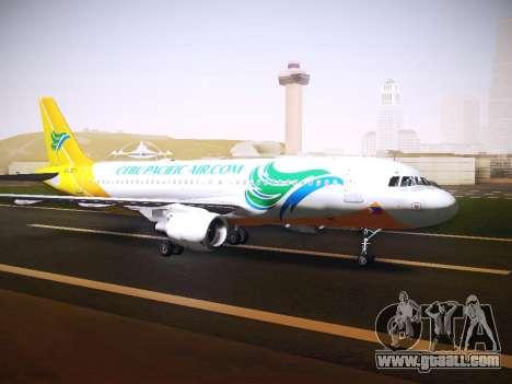Airbus A320 Cebu Pacific Air for GTA San Andreas left view