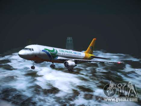 Airbus A320 Cebu Pacific Air for GTA San Andreas upper view