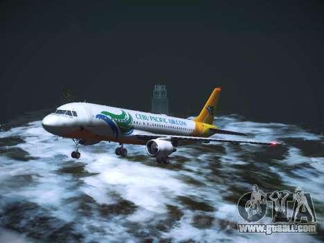 Airbus A320 Cebu Pacific Air for GTA San Andreas upper view