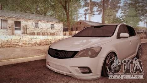Kia Ceed 2011 SA Plates for GTA San Andreas