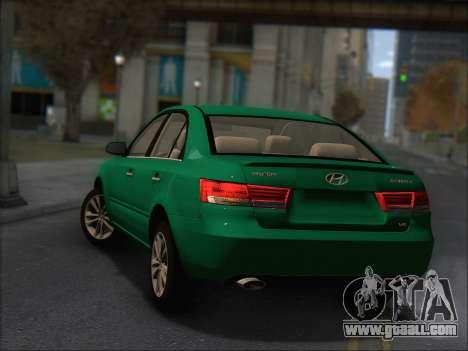 Hyundai Sonata 2009 for GTA San Andreas back view