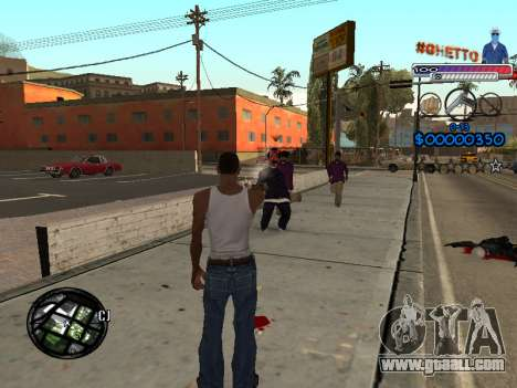 The new C-HUD Ghetto for GTA San Andreas third screenshot