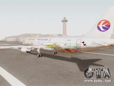 Airbus A320-211 China Eastern for GTA San Andreas back left view