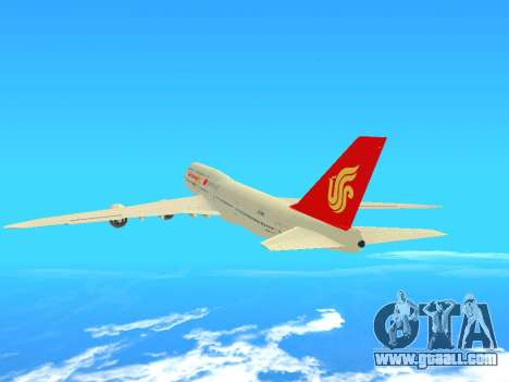 Boeing 747 Air China for GTA San Andreas back view