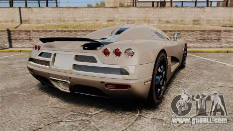 Koenigsegg CCX for GTA 4 back left view