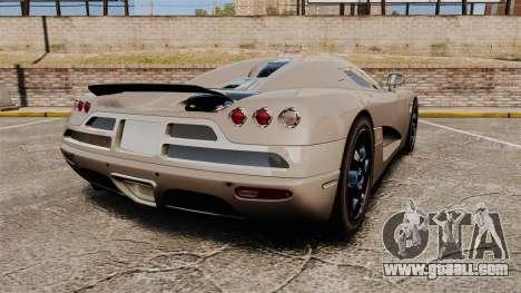 Koenigsegg CCX for GTA 4 back left view