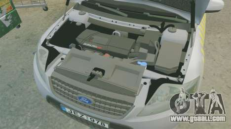 Ford Mondeo Hungarian Police [ELS] for GTA 4 inner view