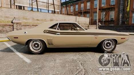 Dodge Challenger RT 1972 for GTA 4 left view