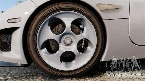 Koenigsegg CCX for GTA 4 back view