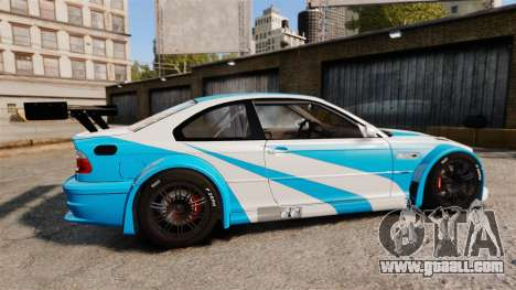 BMW M3 GTR 2012 Most Wanted v1.1 for GTA 4 left view