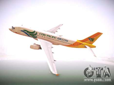 Airbus A320 Cebu Pacific Air for GTA San Andreas back view