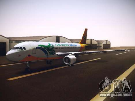 Airbus A320 Cebu Pacific Air for GTA San Andreas inner view
