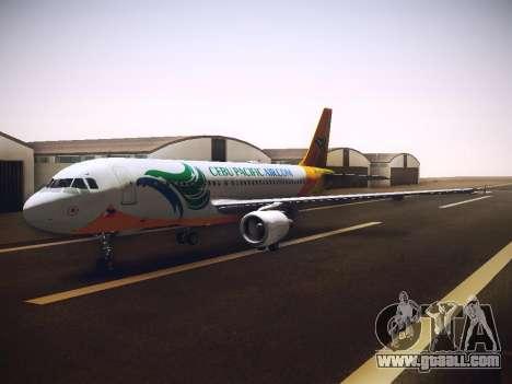 Airbus A320 Cebu Pacific Air for GTA San Andreas inner view
