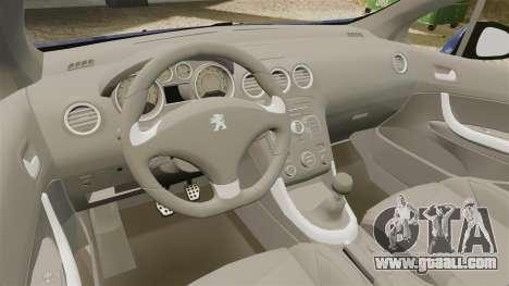 Peugeot 308 GTI for GTA 4 inner view