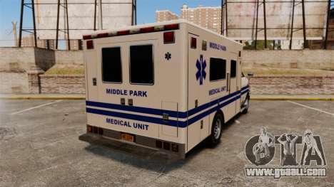 Brute MPMU Ambulance for GTA 4 back left view