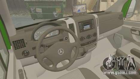 Mercedes-Benz Sprinter 2500 2011 Hungarian Post for GTA 4 inner view