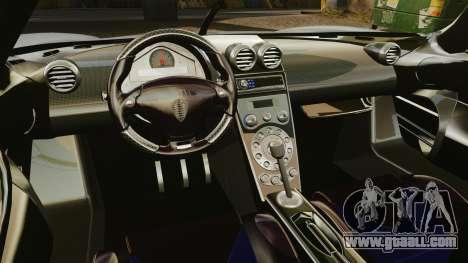 Koenigsegg CCX for GTA 4 inner view